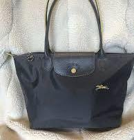 New! Authentic!Longchamp Le pliage club Small Grey long handle
