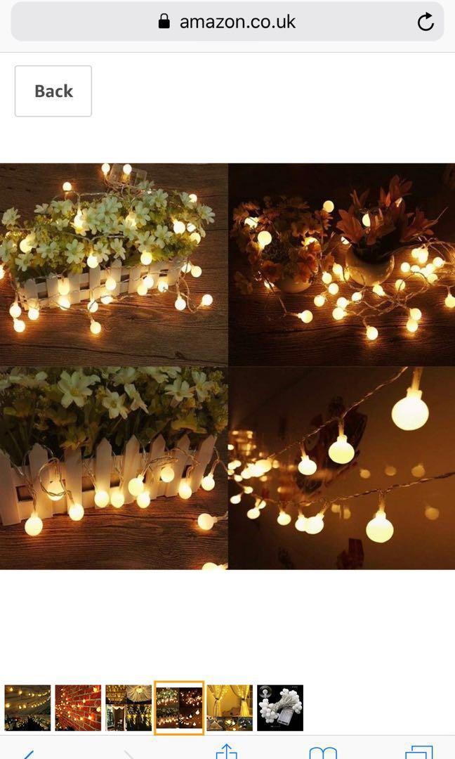 New Globe String Lights Ball Fairy Lights Wedding