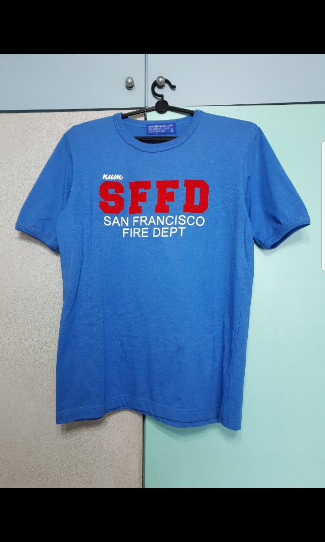 New Urban Male Sffd Tee Men S Fashion Clothes Tops On Carousell
