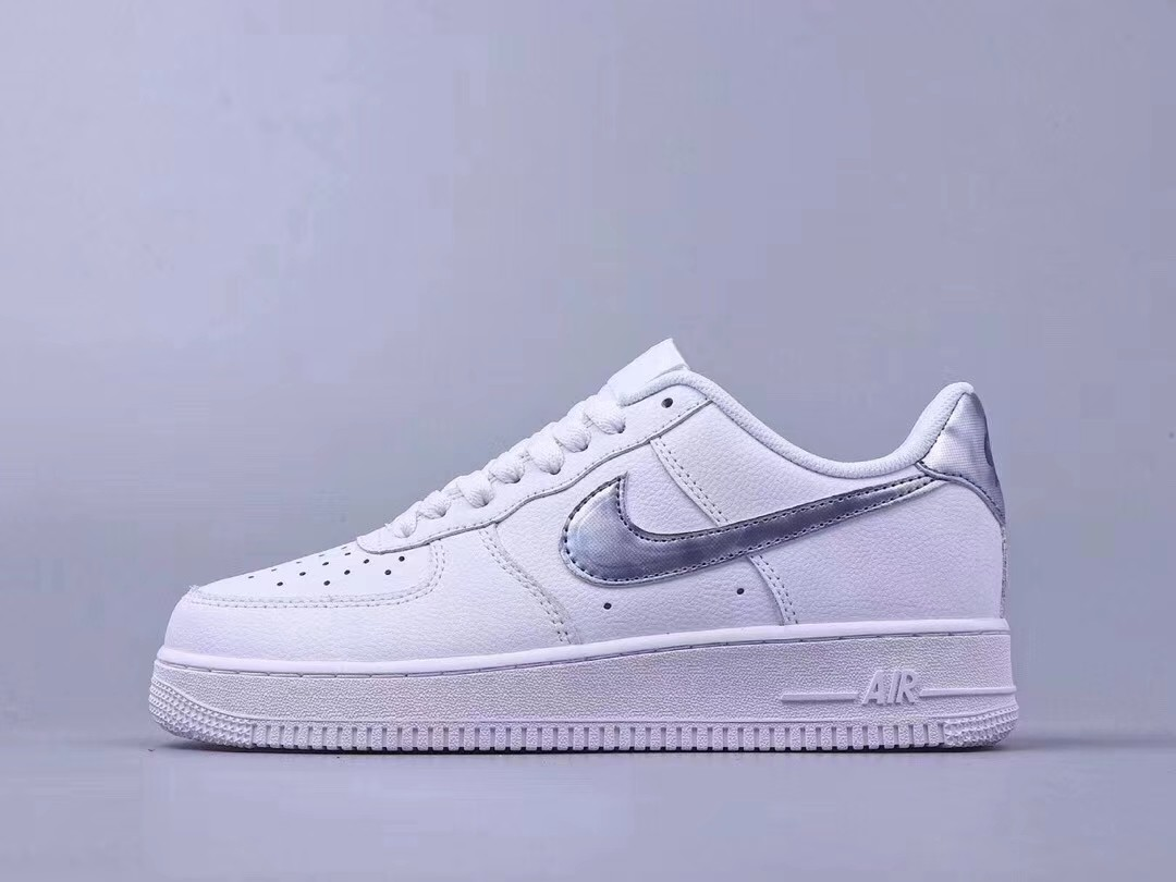 84094e3d208e9a Nike Air Force 1 Silver Swoosh