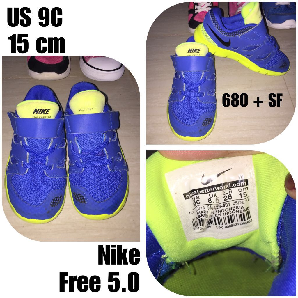 4f4f55ac787 Nike Free Blue and Green Rubber Shoes kids toddler