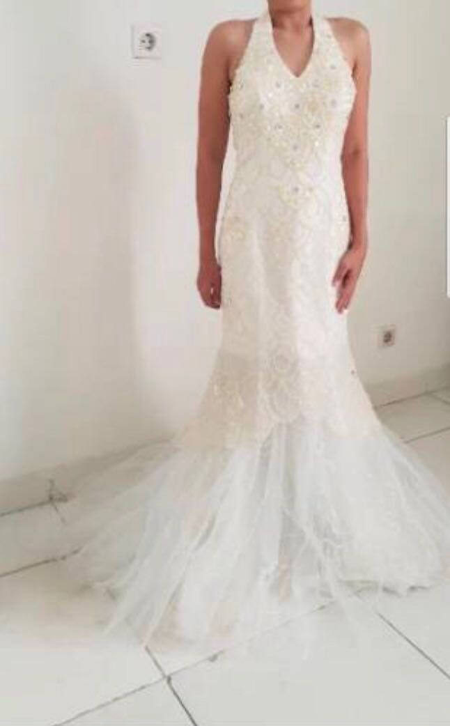 Off White Mermaid Wedding Gown Women S Fashion Clothes Dresses