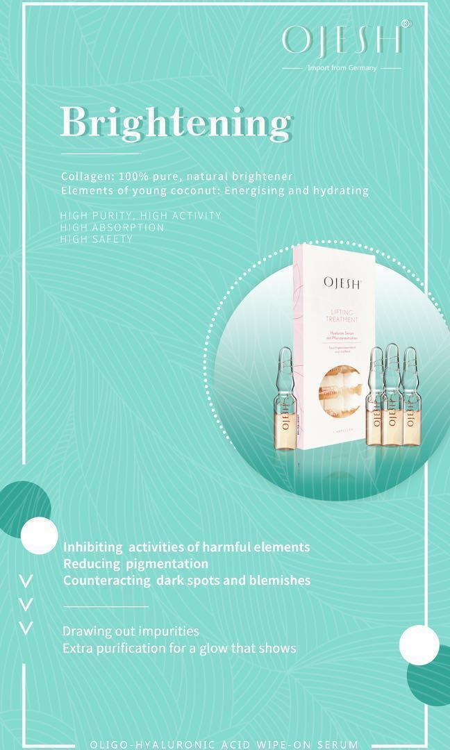 OJESH Lifting Treatment Hyaluronic serum from Germany