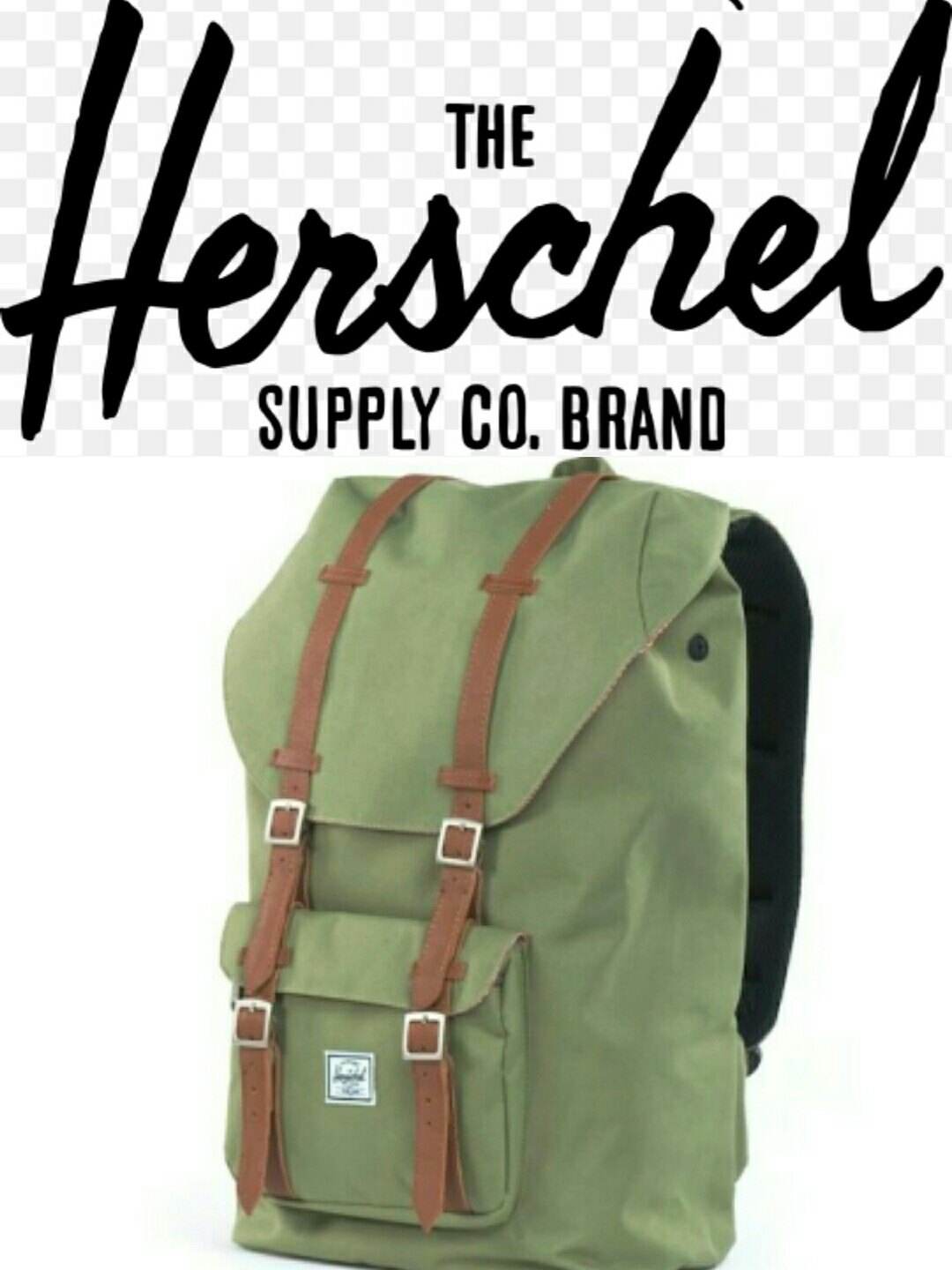 3373901e29c5f Last piece) Herschel Little America mid volume olive green backpack ...