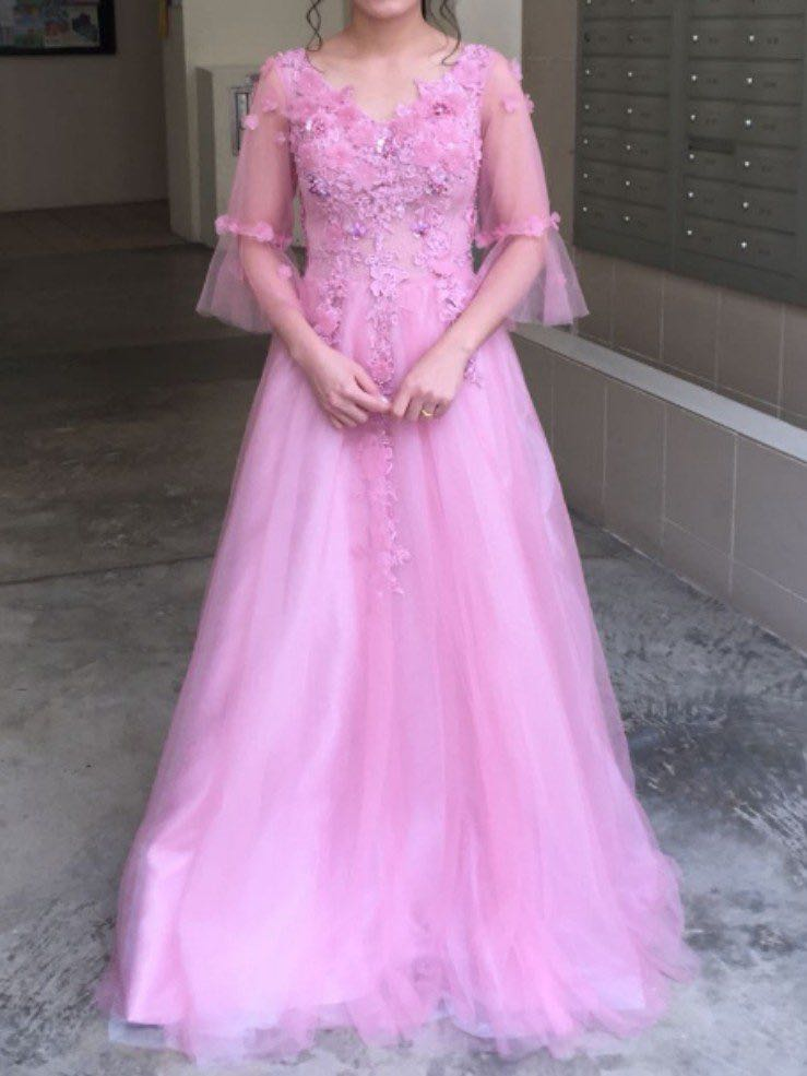 Wedding Dresses with Pink Colour