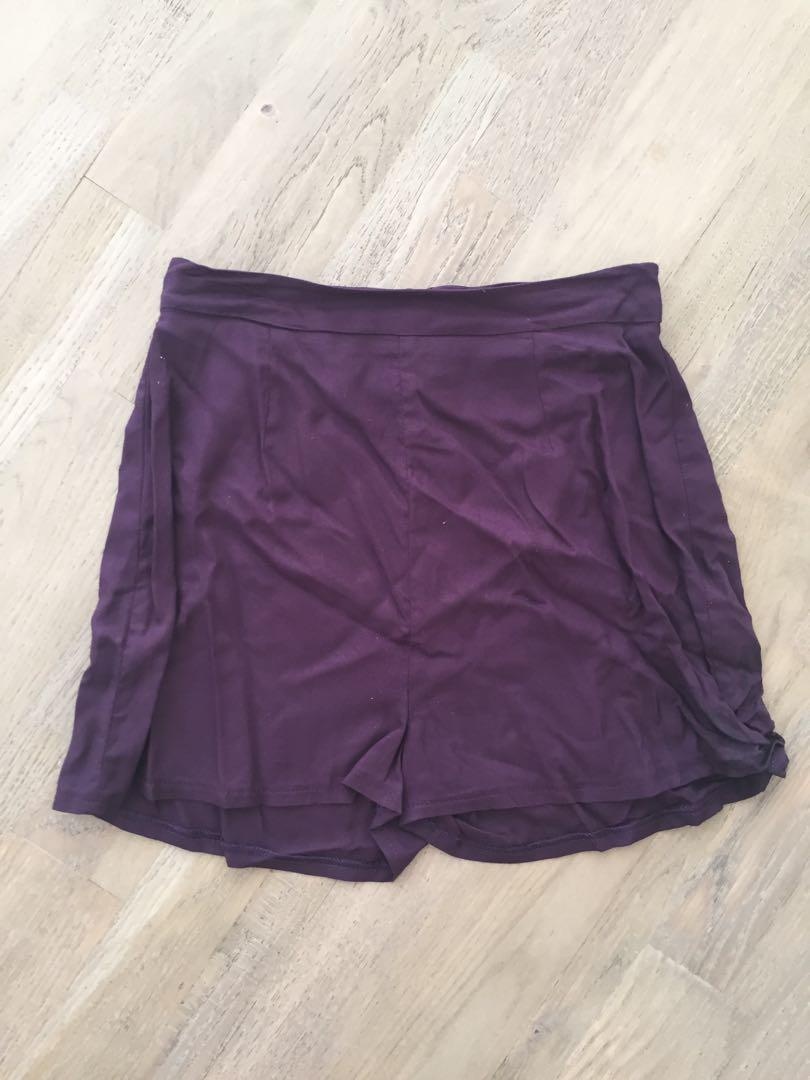 Size xxs purple high waisted shorts excellent condition