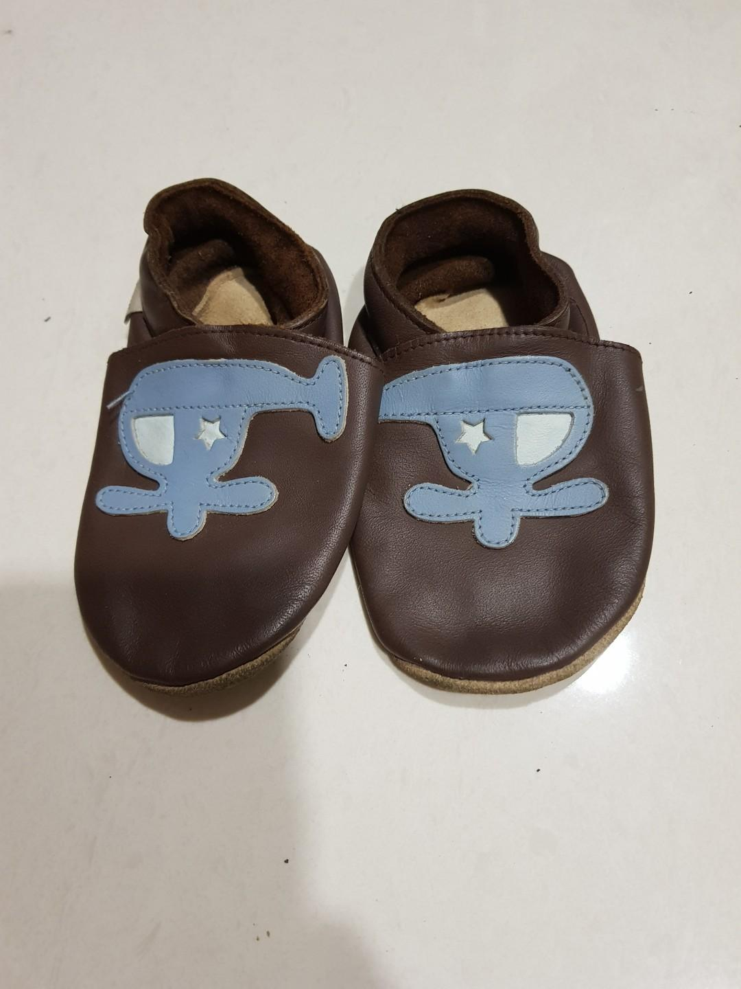 Soft Leather Baby Boy Shoes (Size:13