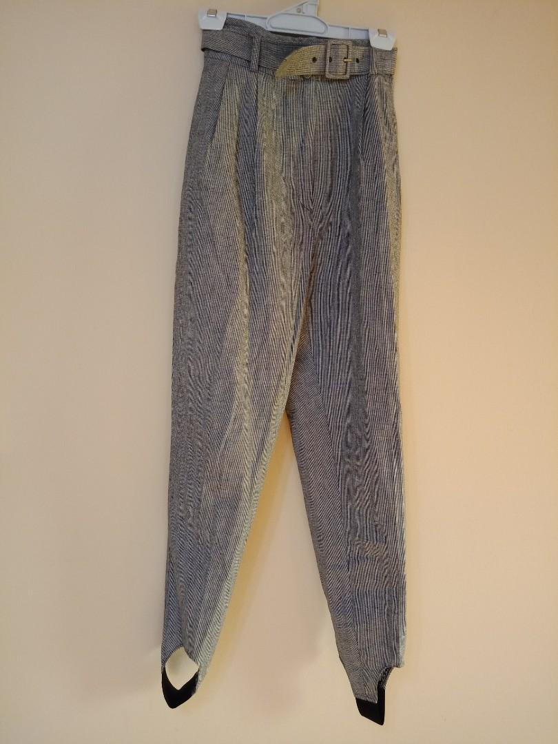 Sportsgirl high waisted vintage houndstooth 80s style pants