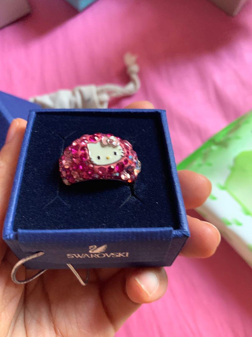 4ae758604 Swarovski Hello Kitty ring, Women's Fashion, Jewellery, Rings on ...