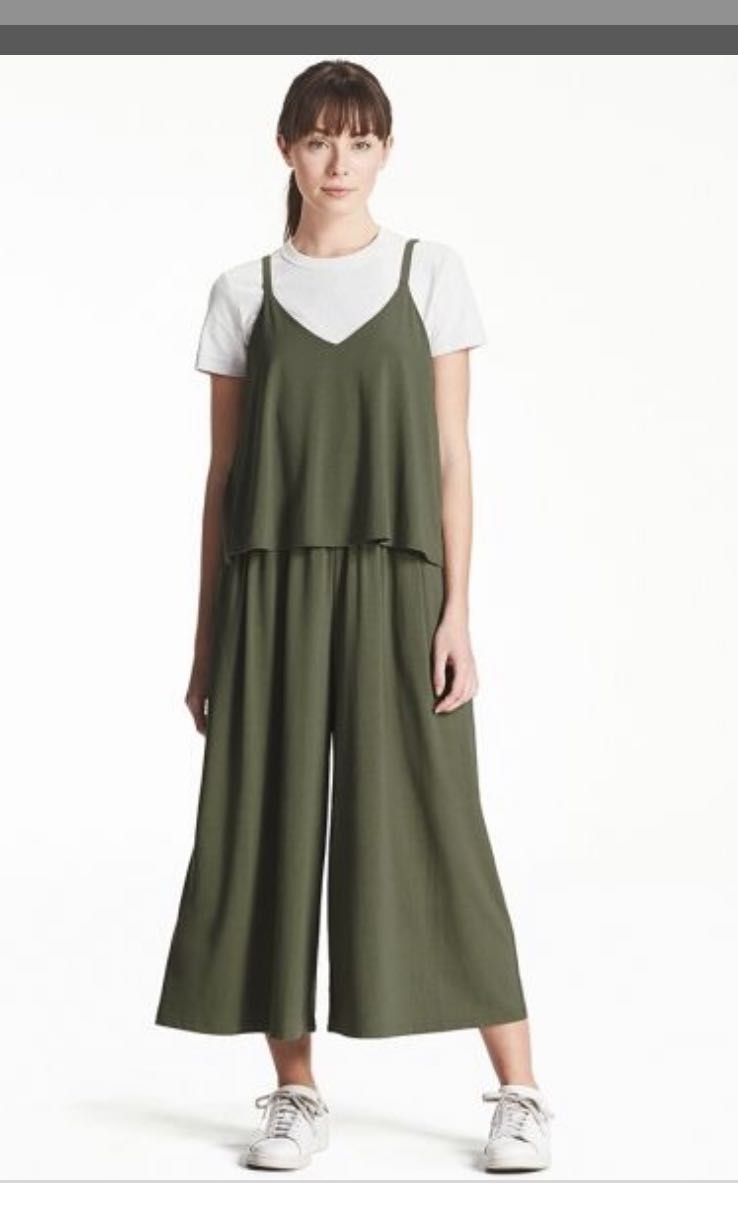 1bdcb7af189a Uniqlo camisole jumpsuit in olive