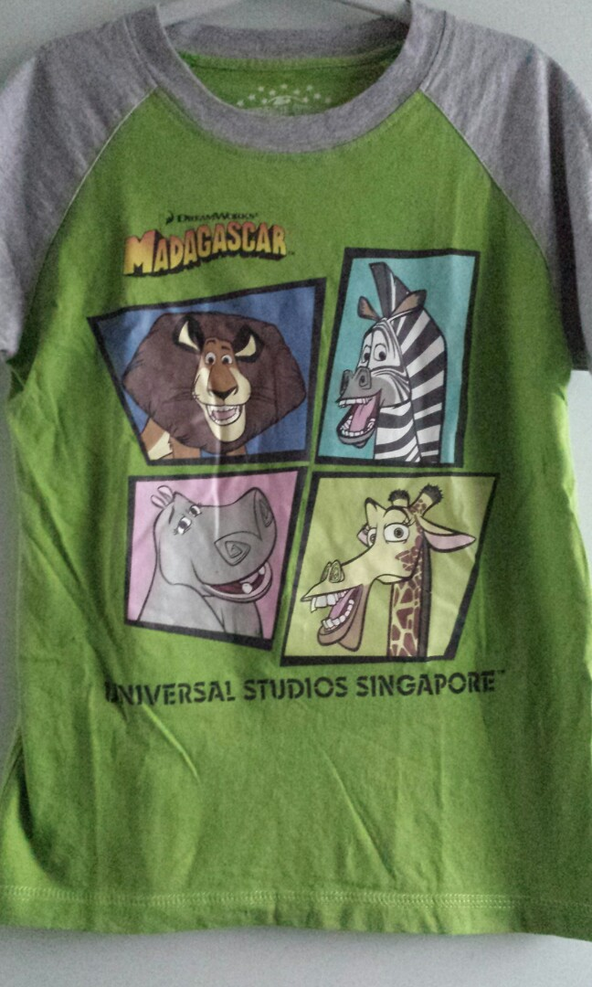 3a0b83a05 Universal Studios Singapore Kids Madagascar Tee Shirt, Babies & Kids ...
