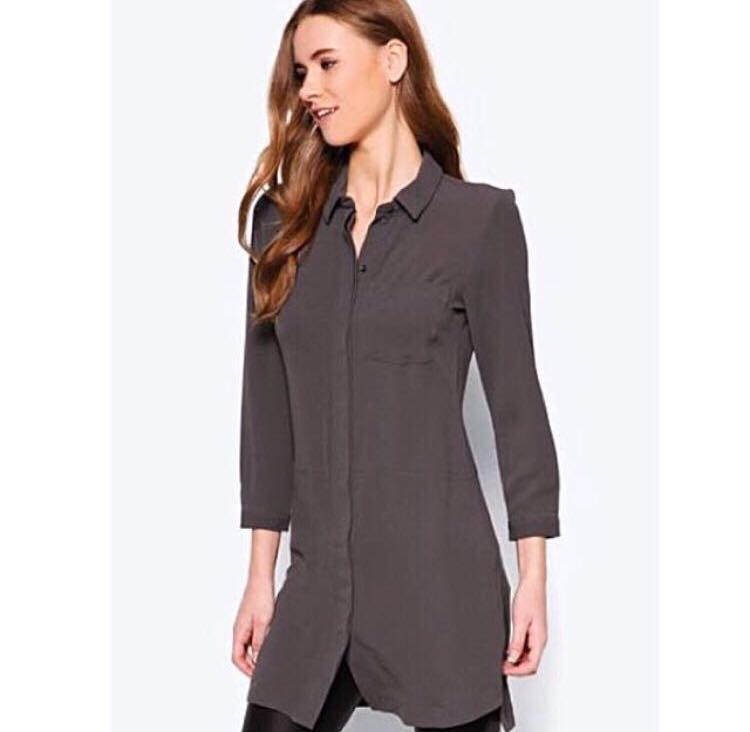 ea0371e166746 Vera Moda Long Button Up Office Shirt Top Zalora