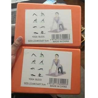 Brand new yoga blocks (2 pieces) for sale
