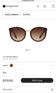 Dolce & Gabbana sunglasses - 100% authentic. Brand new.