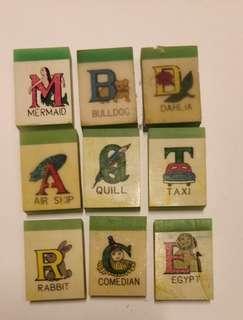 60~70年代英文字母 膠擦