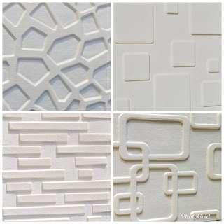 3D 立體 彈性隔音磚牆貼