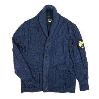 Old Joe Shawl Collar Guernsey Cardigan / vintage nigel 古著rrl