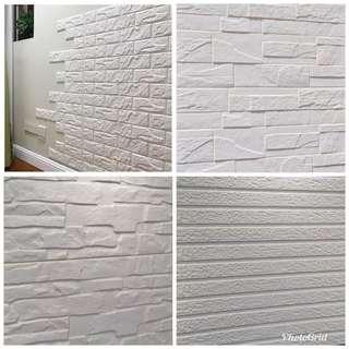 3D立體 彈性隔音磚牆貼 牆貼 多款