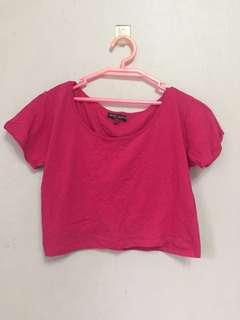 💞BNWOT Pink cotton cropped top