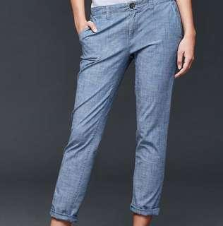GAP chambray girlfriend chinos pants