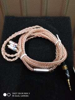 MMCX 8绞耳機線 7N單晶銅鍍銀4混4錫包銅(DIY)