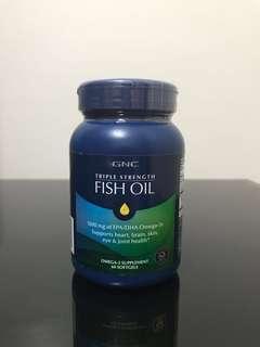 GNC Triple Strength Fish Oil (60 Caps)