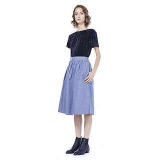 TEM Eliana Midi Skirt in Light Blue