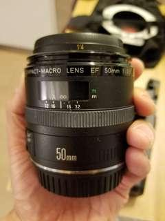 Canon EF lens,  50mm Macro f2.5 compact