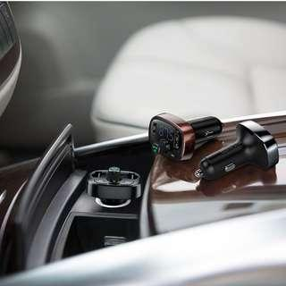 Baseus T Typed Bluetooth MP3 Charger with Car Holder - Black,Tarnish,Coffee