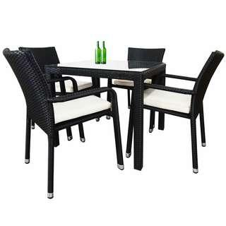 🚚 Arena Living Balcony Patio Outdoor Dining Set Table Chairs