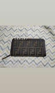 Original Fendi Long Zip Wallet