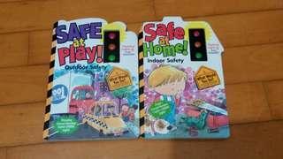 兒童硬皮書兩本 Safe at play and Safe at home