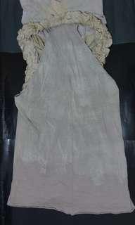購自d mop阿根廷設計師貴價牌子trosman 米杏色多cutting中性連身裙 勁特別有型格款