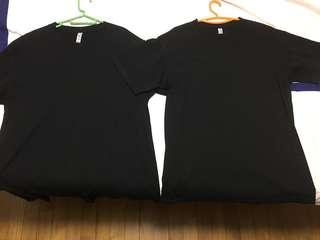 PRICED FOR BOTH AAA Alstyle Plain Tee T-shirt Black