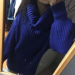 🚚 高領長版針織厚毛衣