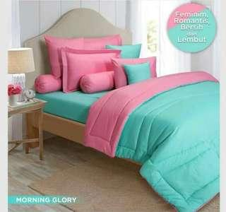 Sprei atau bed cover Nova linen polos MORNING GLORY