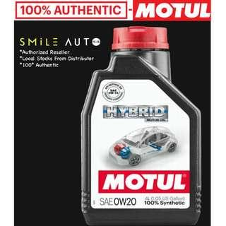 Motul Hybrid 0W20 Engine Oil 4L Bottle- NEW & LATEST! (Please Chat For CNY Promo)