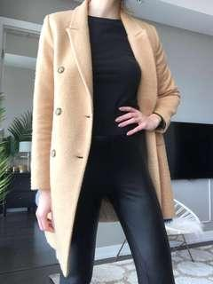 Zara Camel Coat never worn size S