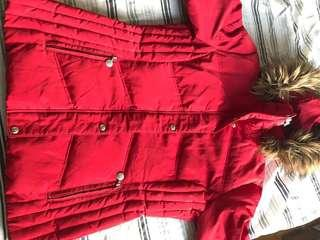 Red Winter Jacket CK