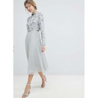 Silver Embellished Prom/Formal/Occasion Dress (ASOS)