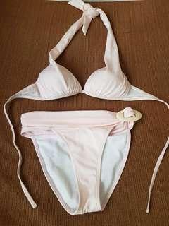 Peach Two-Piece Swimwear