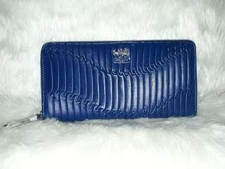 AUTHENTIC COACH ZIP ACCORDION WALLET - SOLD AS IS