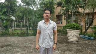 Kemeja Bunga-Bunga Slim Fit / Floral Shirt Slim Fit
