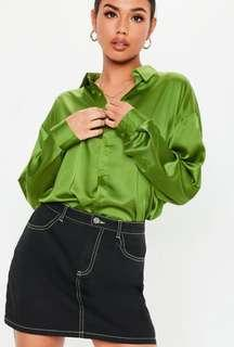 Brand new MISSGUIDED BASIC SATIN SHIRT SIZE 4