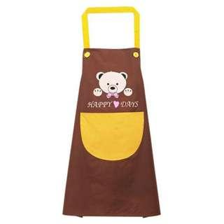 Celemek Apron Dapur Bear Happy Days - A51