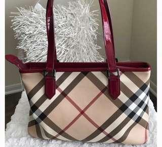 Burberry Check Tote Handbag for Sale! EUC