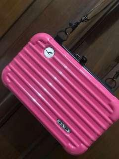 Mini Rimowa clutch bag warna PINK