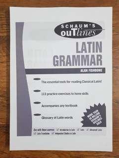 🚚 Schaum's Outlines: Latin Grammar