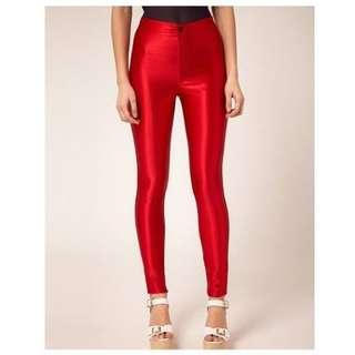 American Apparel Red Disco Pants