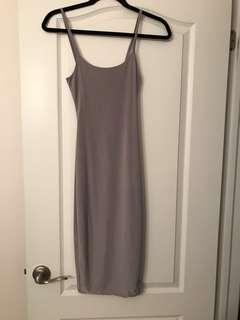 WINDSOR STORE grey tight long dress